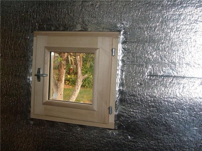 Утепление стен бани фольгированным материалом